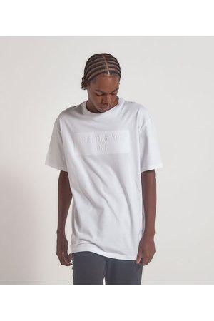Blue Steel Camiseta com Lettering Alto Relevo Embossed | | | PP