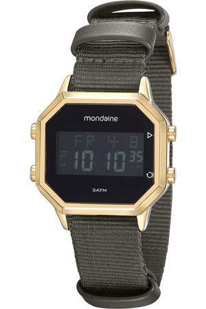 Mondaine Homem Pulseiras - Kit de Relógio Digital Masculino + Pulseira - 32100GPMGDJ1K Chumbo