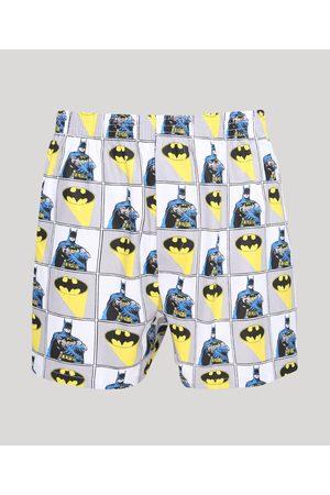 Warner Bros Homem Cueca Samba Canção - Samba Canção Masculina Batman Estampada Branca