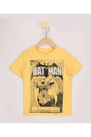 Warner Bros Camiseta Infantil Batman Revista Manga Curta Amarela