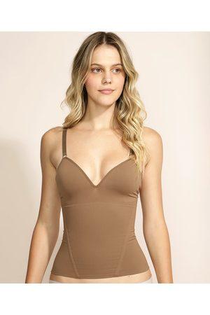 PLIÉ Mulher Modeladoras & Cintas - Regata Skin Modeladora com Bojo Alça Média