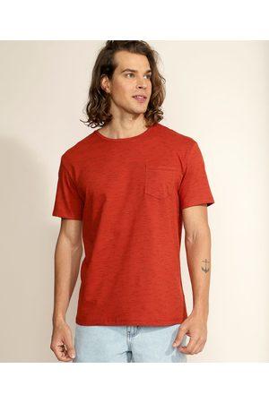 Basics Homem Manga Curta - Camiseta Masculina Básica com Bolso Manga Curta Gola Careca