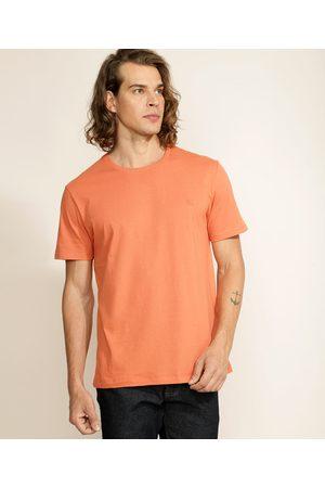 Basics Homem Manga Curta - Camiseta Masculina Básica com Bordado Manga Curta Gola Careca