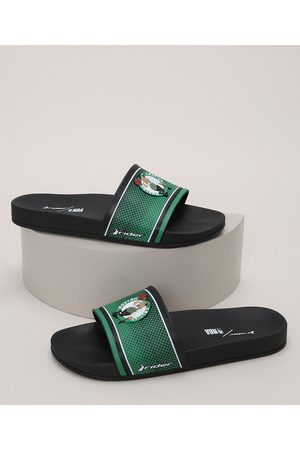 Rider Homem Chinelos - Chinelo Slide Masculino NBA Boston Celtics