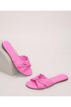 VIZZANO Rasteirinha Feminina Laço Pink