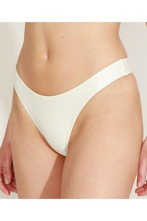 Mindse7 Mulher Bikini - Biquíni Calcinha Mindset Asa Delta com Proteção UV50+ Claro