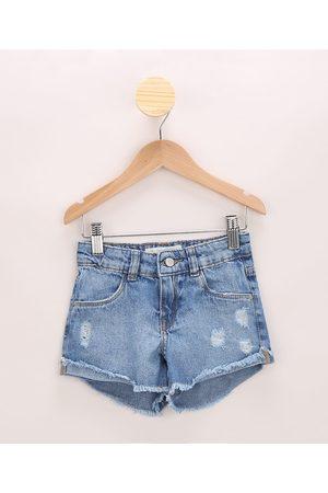 PALOMINO Short Jeans Infantil Destroyed Médio