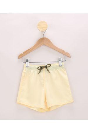 Baby Club Bermuda Surf Infantil com Bolso Amarela