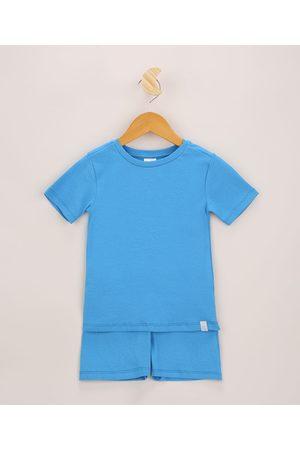 PALOMINO Pijama Infantil Canelado Manga Curta