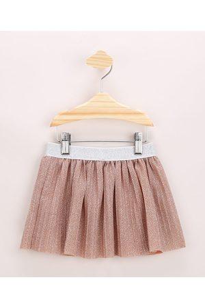 BABY CLUB Saia Infantil Curta Plissada com Glitter