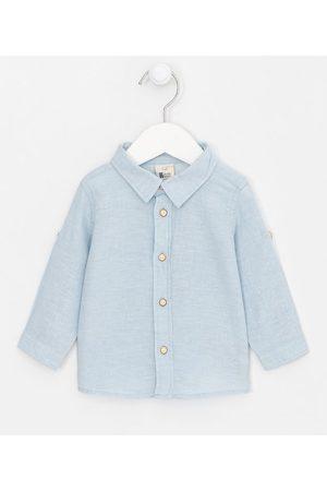 Teddy Boom (0 a 18 meses) Camisa Infantil Linho - Tam 0 a 18 meses       3-6M
