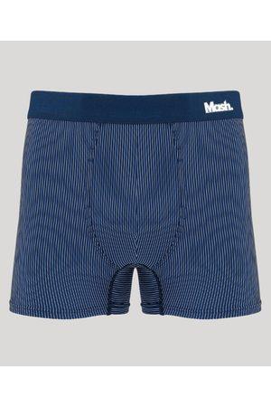 Mash Cueca Masculina Boxer Risca de Giz Azul Marinho