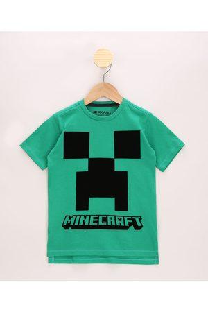 Minecraft Camiseta Infantil Creeper Manga Curta