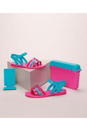 GRENDENE Sandália Infantil Luluca + Brinde Pink