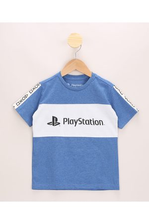 Playstation 3 Camiseta Infantil com Recorte Manga Curta Gola Careca