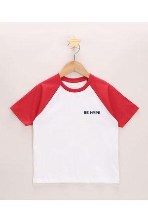 PALOMINO Camiseta Infantil Be Hype Manga Curta Raglan Off White