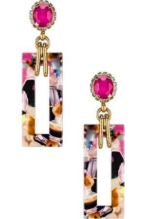 ELIZABETH COLE Gaylen Earring in Pink.