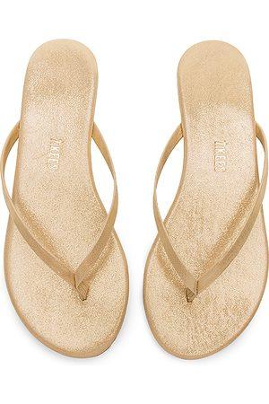 Tkees Glitters Flip Flop in Metallic Gold. - size 5 (also in 6, 7)