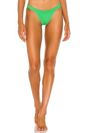 Frankies Bikinis X REVOLVE Cole Bikini Bottom in Green. - size L (also in XS, S, M)
