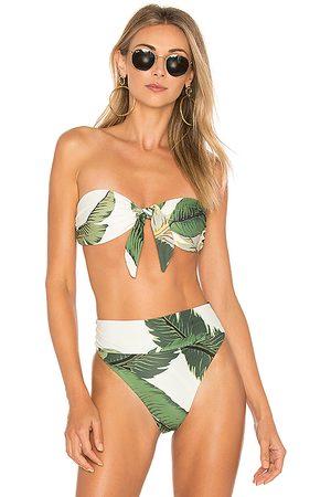 Beach Riot X REVOLVE Sophie Bikini Top in Green. - size L (also in S, XS, M)