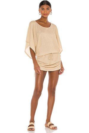 Luli Fama Cosita Buena South Beach Dress in Beige. - size M (also in XS, S)