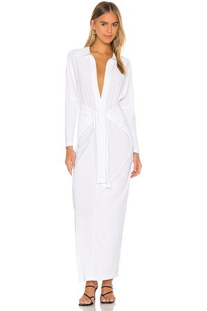 Norma Kamali Tie Front NK Shirt Dress in . - size L (also in XXS, XS, S, M, XL)