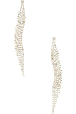 8 Other Reasons Curved Dangle Earring in Metallic .