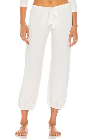 Eberjey Cropped Softest Sweats Pant in White. - size L (also in M, S)