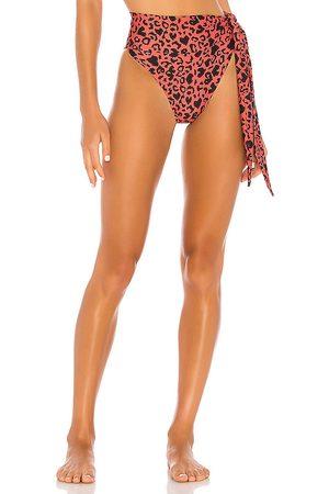 BEACH RIOT Claire Bikini Bottom in Red. - size L (also in M, S, XS)