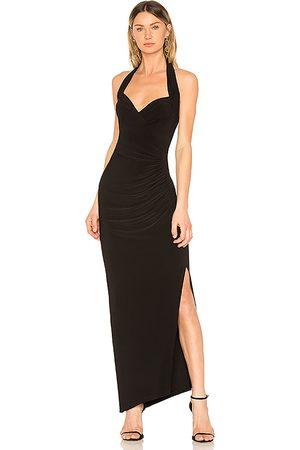 Norma Kamali Halter Sweetheart Side Drape Gown in . - size M (also in XS, S)
