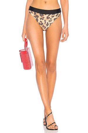 PQ High Waist Teeny Bikini Bottom in Brown. - size L (also in S, M)