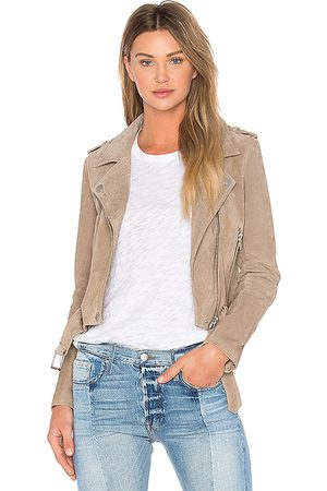 BLANK NYC Suede Moto Jacket in Brown. - size L (also in S, XS, M)