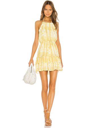 MAJORELLE Baker Mini Dress in Yellow. - size L (also in M, S, XS)