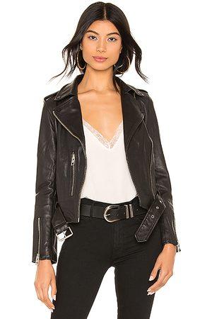 AllSaints Balfern Leather Biker Jacket in . - size 0 (also in 2, 4, 8)