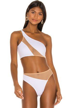 Norma Kamali Mulher Bikini - Snake Mesh Bikini Top in White. - size S (also in XS)