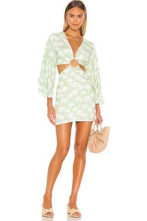 Lovers + Friends Maysa Kimono Dress in Green. - size L (also in M, S, XL, XS, XXS)