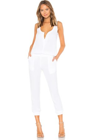 MONROW Crepe Jumpsuit in . - size L (also in XS, S, M)