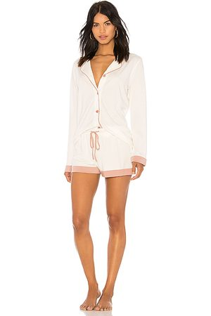 Cosabella Bella Long Sleeve PJ Set in White. - size L (also in S, M)