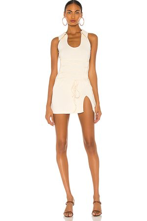 KIM SHUI Stretch Cotton Dress in Ivory. - size L (also in M, S, XS)