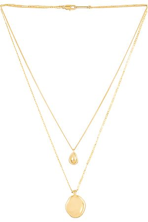 Jenny Mithras Necklace in Metallic Gold.