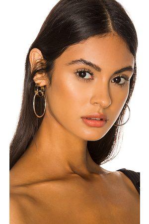 Jenny Imogen Hoop Earrings in Metallic .