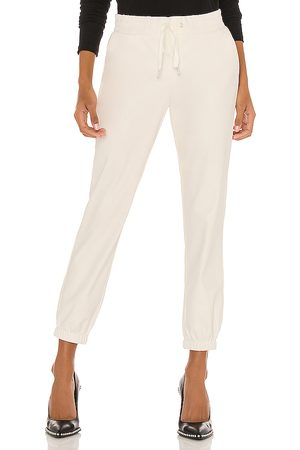 N:philanthropy Scarlett Leather Jogger in White. - size L (also in S)