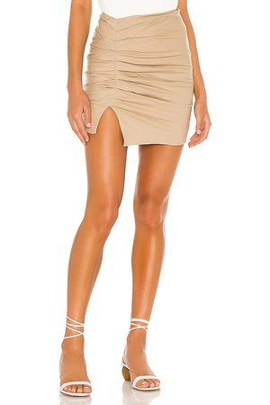 Lovers + Friends Minissaia - Zanele Mini Skirt in Tan. - size L (also in M, S, XS)