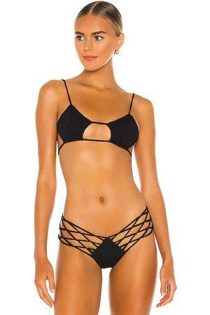 Indah Todos Smocked Diamond Bikini Top in . - size M (also in S, XS)
