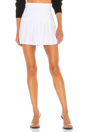 Norma Kamali Pleated Mini Skirt in White. - size L (also in XS, S, M)