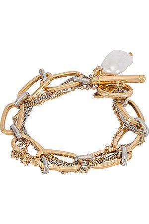 8 Other Reasons Monroe Bracelet in Metallic Gold.