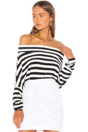 Norma Kamali All In One Bodysuit in Black & White. - size L (also in XXS, XS, S, M)