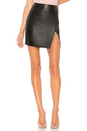 superdown Saia Couro - Trinity Faux Leather Skirt in . - size L (also in M, S, XL, XS, XXS)