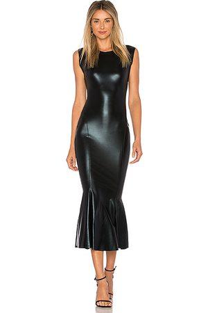 Norma Kamali Sleeveless Midi Dress in Black. - size L (also in XS, S, M)