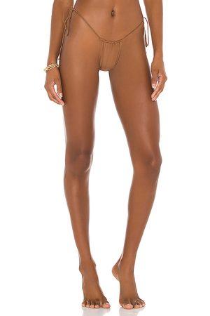 Riot Swim Bixi Bikini Bottom in Brown. - size L (also in M, S)